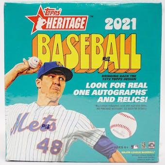2021 Topps Heritage Baseball Mega Box (Blue Sparkle Parallels)