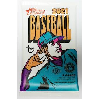 2021 Topps Heritage Baseball Hobby Pack