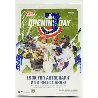 2021 Topps Opening Day Baseball 11-Pack Blaster Box