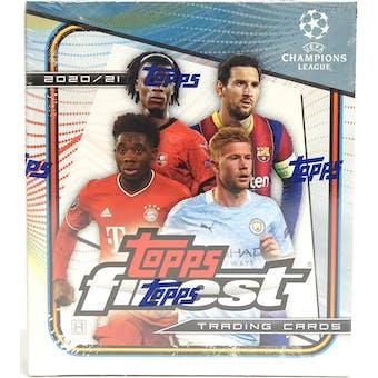 2020/21 Topps Finest UEFA Champions League Soccer Hobby Mini Box