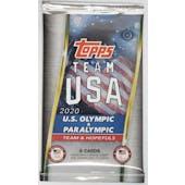 2021 Topps U.S. Olympic & Paralympic Team Hopefuls Hobby Pack