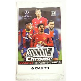 2020/21 Topps UEFA Stadium Club Chrome Soccer Hobby Pack