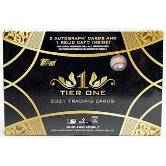 2021 Topps Tier One Baseball Hobby Box