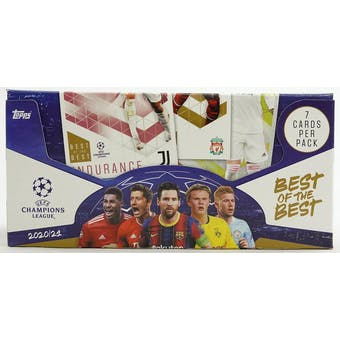 2020/21 Topps Best of the Best UEFA Champions League Soccer Hobby Box (European Exclusive!)