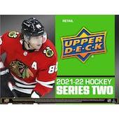 2021/22 Upper Deck Series 2 Hockey 6-Pack Blaster 20-Box Case (Presell)