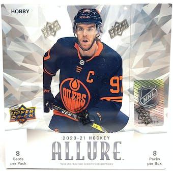 2020/21 Upper Deck Allure Hockey Hobby 10-Box Case- DACW Live 31 Spot Random Team Break #1