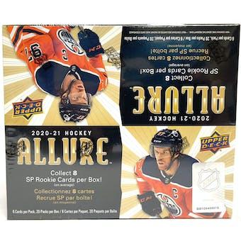 2020/21 Upper Deck Allure Hockey Retail 20-Pack Box