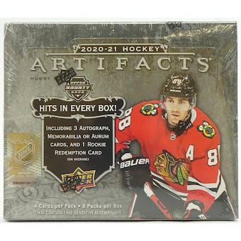 2020/21 Upper Deck Artifacts Hockey Hobby Box