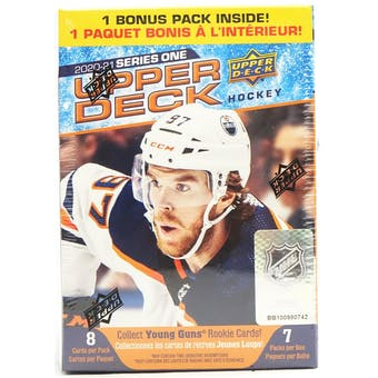 2020/21 Upper Deck Series 1 Hockey 7-Pack Blaster Box