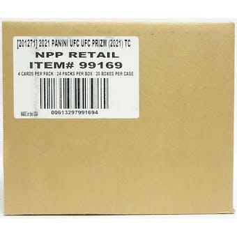 2021 Panini Prizm UFC 24-Pack Retail 20-Box Case