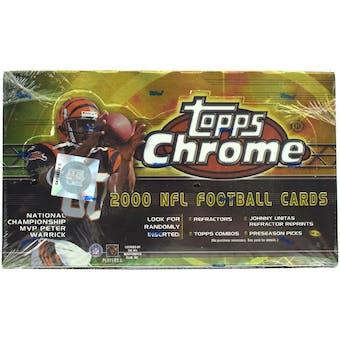 2000 Topps Chrome Football Hobby Box