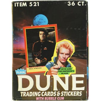 Dune Trading Cards Wax Box (1987 Fleer)