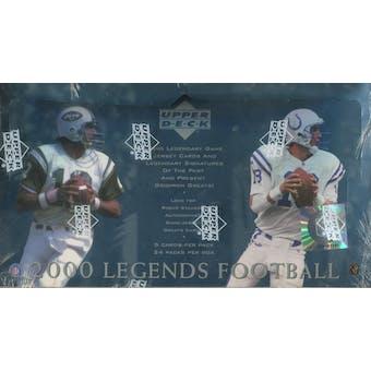 2000 Upper Deck Legends Football Hobby Box