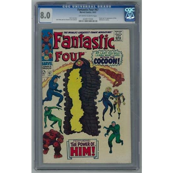 Fantastic Four #67 CGC 8.0 (OW-W) *2228115004*