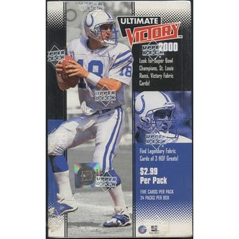 2000 Upper Deck Ultimate Victory Football Box