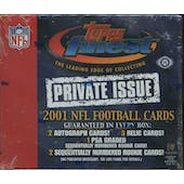 2001 Topps Finest Private Issue Football Hobby Box (Damaged)