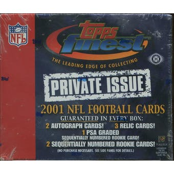 2001 Topps Finest Private Issue Football Hobby Box