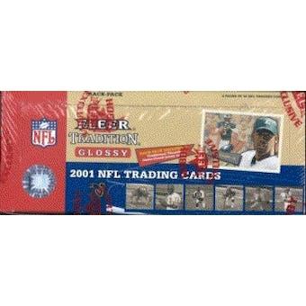2001 Fleer Tradition Glossy Football Rack Box