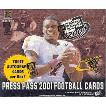 2001 Press Pass Football Hobby Box