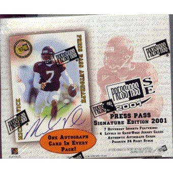 2001 Press Pass Signature Football Hobby Box