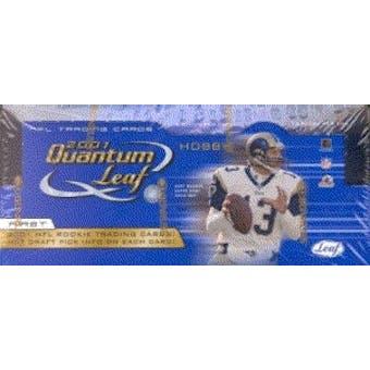 2001 Leaf Quantum Leaf Football Hobby Box
