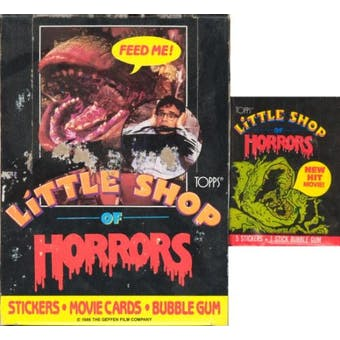 Little Shop of Horrors Wax Box (1986 Topps)