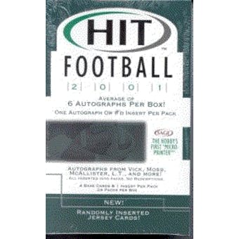 2001 Sage Hit Football Hobby Box