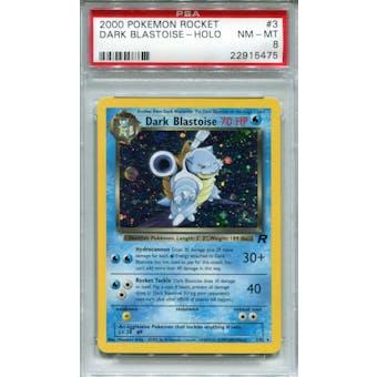Pokemon Team Rocket Dark Blastoise 3/82 PSA 8