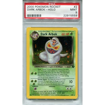 Pokemon Team Rocket Dark Arbok 2/82 PSA 9