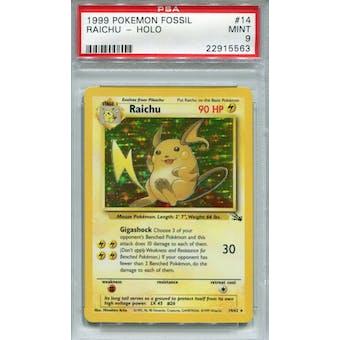 Pokemon Fossil Raichu 14/62 PSA 9