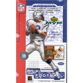 2001 Upper Deck MVP Football Hobby Box