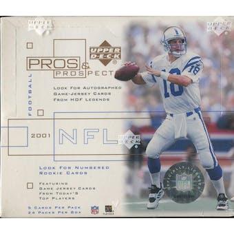 2001 Upper Deck Pros & Prospects Football Hobby Box