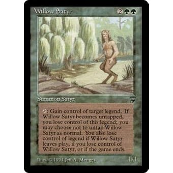 Magic the Gathering Legends Single Willow Satyr - SLIGHT PLAY (SP)