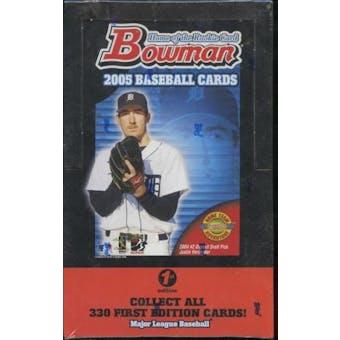 2005 Bowman First Edition Baseball Hobby Box