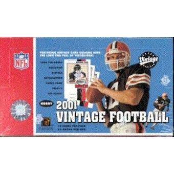 2001 Upper Deck Vintage Football Hobby Box