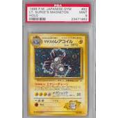 Pokemon Japanese Gym Single Lt. Surge's Magneton PSA 9