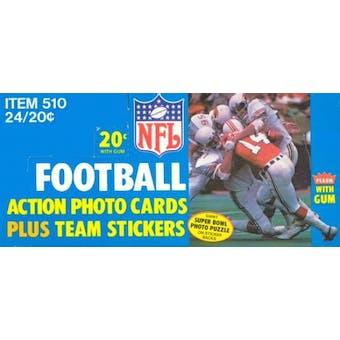1979 Fleer in Action Football Wax Box