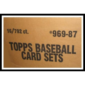 1987 Topps Baseball Factory Set (Brown Box) 16 Set Case