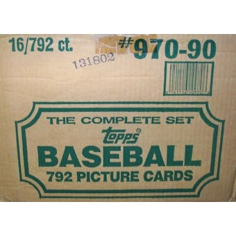 1990 Topps Baseball Factory 16 Set Case