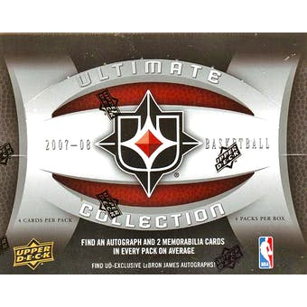 2007/08 Upper Deck Ultimate Collection Basketball Hobby Box