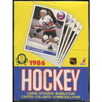 1985/86 O-Pee-Chee Hockey Wax Box