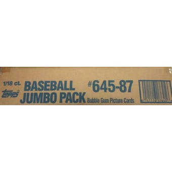 1987 Topps Baseball Jumbo Case Box (18 Giant Packs per case, 1800 cards)