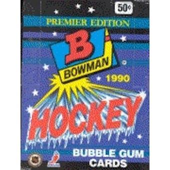 1990/91 Bowman Hockey Wax Box