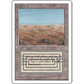 Magic the Gathering Unlimited Single Scrubland - SLIGHT PLAY (SP)