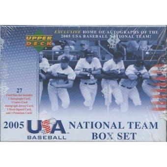 2006 Upper Deck Team USA Baseball National Team Factory Set (Box)