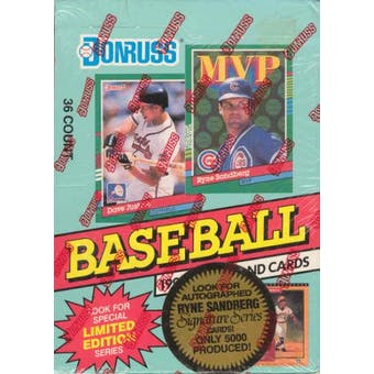 1991 Donruss Series 2 Baseball Canadian Wax Box
