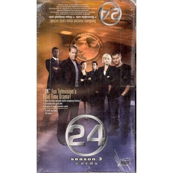 24 Twenty Four Season 3 Trading Cards Hobby Box (Comic Images)