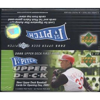2005 Upper Deck First Pitch Baseball 36 Pack Box