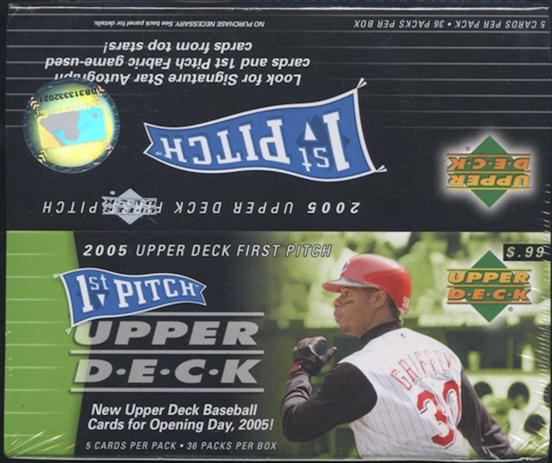 2005 Upper Deck First Pitch Baseball 36 Pack Box Da Card