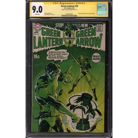 Green Lantern #76 CGC 9.0 Neal Adams Signature Series (W) *2502393002*